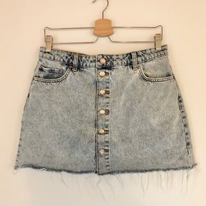 Zara mini denim skirt